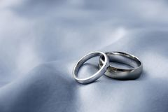 Wedding rings - white gold Royalty Free Stock Images