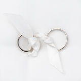 Wedding rings in white gold Stock Photography
