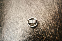 Wedding rings in white gold Royalty Free Stock Images