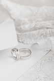 Wedding rings in white gold Royalty Free Stock Photography