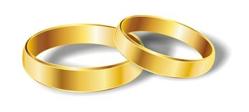 Wedding rings. On withe background Royalty Free Stock Photo