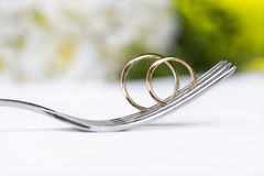 Wedding rings in yellow gold Royalty Free Stock Image