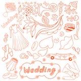 Wedding romantic collection. Royalty Free Stock Photos