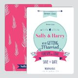 Wedding romantic floral Save the Date invitation Royalty Free Stock Image
