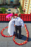 Wedding on roof Royalty Free Stock Images