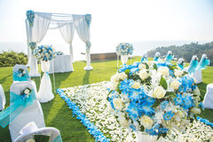 Wedding on the rooftop of the hotel lawn. Stock Photo