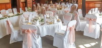 Free Wedding Room, Dinning Tables Stock Photography - 156037202