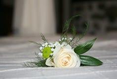 Wedding rose. Beautiful white wedding rose bunch royalty free stock image