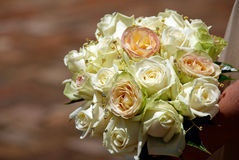 Wedding rose bouquet Royalty Free Stock Images