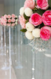 Wedding rose flowers bucket Stock Photo