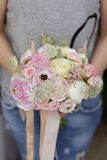 Wedding roses bouquet Stock Images