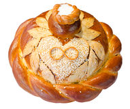 Wedding round bread Stock Image