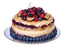 Wedding rustic fruit cake . Royalty Free Stock Images