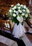 Wedding's floral decorations. Interiors of church with floral decorations into a wedding's day Royalty Free Stock Photo