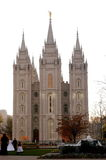 Wedding in salt lake city temple Stock Photo