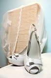 Wedding sandals royalty free stock photos