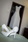 Wedding sandals Royalty Free Stock Image