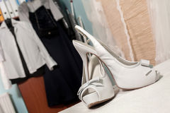 Wedding sandals stock image