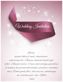 Wedding satin ribbon Stock Photography