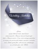Wedding satin ribbon Stock Image