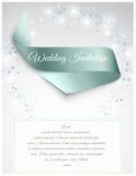 Wedding satin ribbon Stock Images