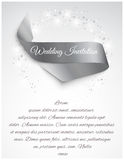 Wedding satin ribbon Royalty Free Stock Photography