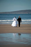 Wedding at the sea. Wedding couple on the beach Royalty Free Stock Photography