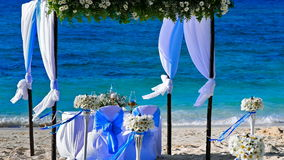 Wedding by the sea Royalty Free Stock Images
