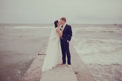 Wedding at the sea Royalty Free Stock Photos