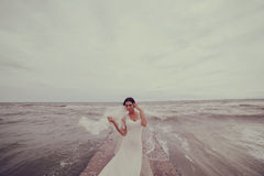 Wedding at the sea Stock Photography