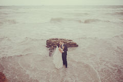 Wedding at the sea Royalty Free Stock Images