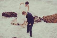 Wedding at the sea Stock Image