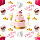Wedding seamless Stock Images