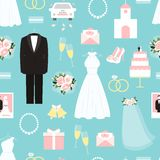 Wedding seamless background pattern Royalty Free Stock Photography