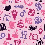 Wedding seamless pattern Royalty Free Stock Photography