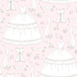 Wedding seamless pattern Stock Image