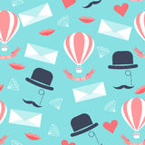 Wedding seamless pattern background with  cartoon romantic elements Royalty Free Stock Photography