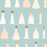 Wedding Seamless Pattern Stock Photos
