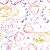 Wedding seamless pattern Royalty Free Stock Images
