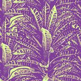 Wedding seamless pattern design with exotic tropical flowers and leaves. vector.  stock illustration