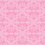 Wedding seamless pattern - floral ornament with wedding rings Stock Photography