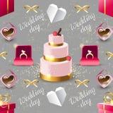 Wedding seamless Royalty Free Stock Image