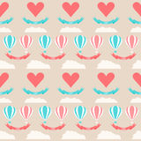 Wedding seamless romantic background with cartoon elements Stock Photography