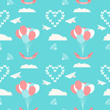 Wedding seamless romantic decorative pattern background Royalty Free Stock Photography