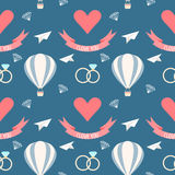 Wedding seamless romantic decorative pattern background Stock Photo