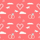 Wedding seamless romantic decorative pattern background Stock Photography