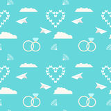 Wedding seamless romantic decorative pattern background Royalty Free Stock Photos