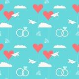Wedding seamless romantic decorative pattern background Royalty Free Stock Photos