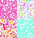 Wedding seamless wallpaper. Wedding pattern seamless wallpaper,tiles Stock Photos