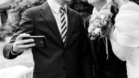 Wedding selfie Royalty Free Stock Photo